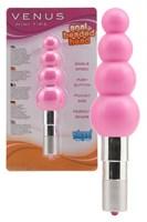 Розовый водонепроницаемы минивибратор-елочка - фото 208251