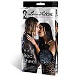 Черная виниловая ткань-простынь для эротических игр - фото 1143685
