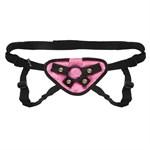 Черно-розовые плюшевые трусики для страпона - фото 7582