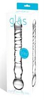 Стеклянный спиральный жезл Joystick, 20 см. - фото 178759