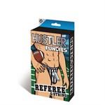 Полосатые стринги из коллекции Hustler Fundies с декоративной подвеской-свистком - фото 518851