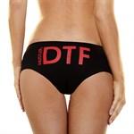 Женские трусики Hustler с аббревиатурой DTF - фото 7747