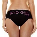 Женские трусики Hustler с надписью Bad Girl  - фото 208944