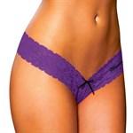 Фиолетовые ажурные трусики-танга - фото 1143896