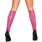 Сетчатые розовые гетры со шнуровкой - фото 1648557