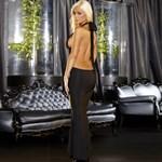 Черное вечернее платье в пол с открытой спиной - фото 1143997