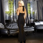 Вечернее черное платье в пол от Hustler - фото 1144001