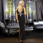 Вечернее черное платье в пол от Hustler - фото 7871