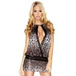 Платье леопардовой расцветки, расшитое пайетками - фото 294618