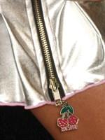 Коротенькая плиссированная юбка цвета металлик с молнией - фото 1511407
