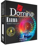 Ароматизированные презервативы Domino Karma - 3 шт. - фото 413685