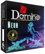 Светящиеся в темноте презервативы Domino Neon - 3 шт. - фото 1272108