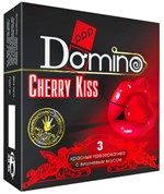 Презервативы Domino Cherry Kiss со вкусом вишни - 3 шт. - фото 444262