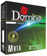 Ароматизированные презервативы Domino  Мята  - 3 шт. - фото 75970