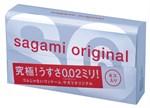 Ультратонкие презервативы Sagami Original 0.02 - 6 шт. - фото 1144117