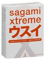 Ультратонкие презервативы Sagami Xtreme Superthin - 3 шт. - фото 7648