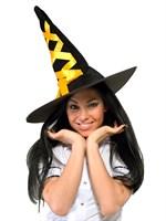 Шляпа ведьмы оранжевая - фото 189906
