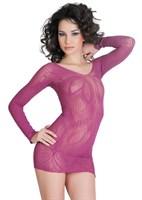 Платье с рукавами и цветочным рисунком  - фото 706637