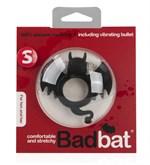 Чёрная вибронасадка на пенис Bad Bat - фото 208111