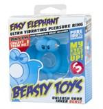 Голубое кольцо Beasty Toys Easy Elephant с вибрацией и светящимися глазами - фото 519637