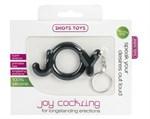 Черное эрекционное кольцо Joy Cocking - фото 685796