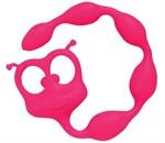 Розовая анальная цепочка Flexy Felix - 31 см. - фото 1144343