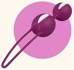 Фиолетовые вагинальные шарики Smartballs Duo - фото 177521
