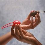 Черный вагинальный шарик Smartballs Uno - фото 509101