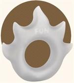 Белое эрекционное кольцо Flame - фото 707417