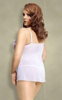 Комплект Nadine: сорочка с бантом и трусики-стринг - фото 520578