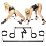 Комплект наручников и наножников с распорками Spread  em Bar and Cuff Set - фото 133491