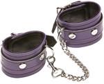 Фиолетовые кожаные наручники X-Play - фото 708294