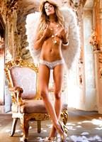 Белые трусики-стринг Angel с широким кружевным пояском - фото 211275