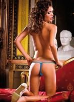 Голубые трусики-стринг Neon Barock - фото 522127