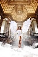 Белое платьице из тюлевой ткани с бюстом на косточках и мягкими чашечками Back in Heaven - фото 212897
