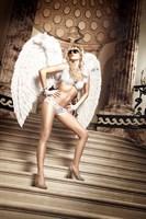 Белые кружевные трусики-шортики Back in Heaven - фото 212960