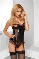 Корсаж с открытой грудью Salima corset с эффектом мокрой ткани - фото 710606