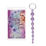 Фиолетовая анальная цепочка First Time Love Beads - 21 см. - фото 1145142