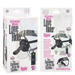 Страпон с вибрацией Love Rider Rippler - 18,5 см. - фото 523925