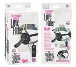 Страпон с вибрацией Love Rider Rippler - 18,5 см. - фото 523926