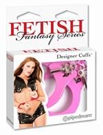 Металлические розовые наручники - фото 296150