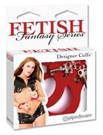 Металлические красные наручники Designer Metal Handcuffs - фото 8429