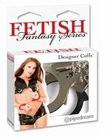 Металлические серебристые наручники Designer Metal Handcuffs - фото 1145323