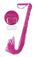 Многохвостая розовая плеть Deluxe Whip - 30 см. - фото 524316