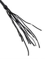 Чёрная кожаная плетка Cat-O-Nine Tails - 46,4 см. - фото 1145380