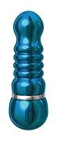 Голубой аллюминиевый вибратор BLUE SMALL - 7,5 см. - фото 134257
