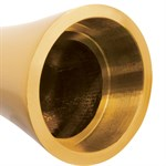 Золотистый алюминиевый вибратор GOLD SMALL - 7,5 см. - фото 1145427