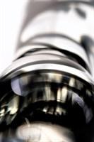 Стеклянный фаллоимитатор из прозрачного стекла со спиралями - 20,5 см. - фото 1321418