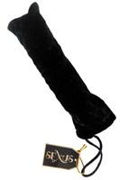 Стеклянная анальная втулка с черным хвостиком - 9,5 см. - фото 187606