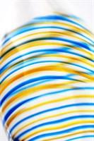 Стеклянный прозрачный фаллоимитатор с двухцветным кончиком - 22 см. - фото 1320304